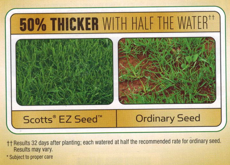 Scotts EZ Seed Advert
